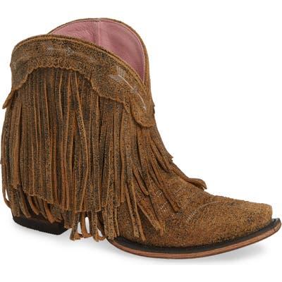 Lane Boots X Junk Gypsy Spitfire Fringe Bootie- Beige