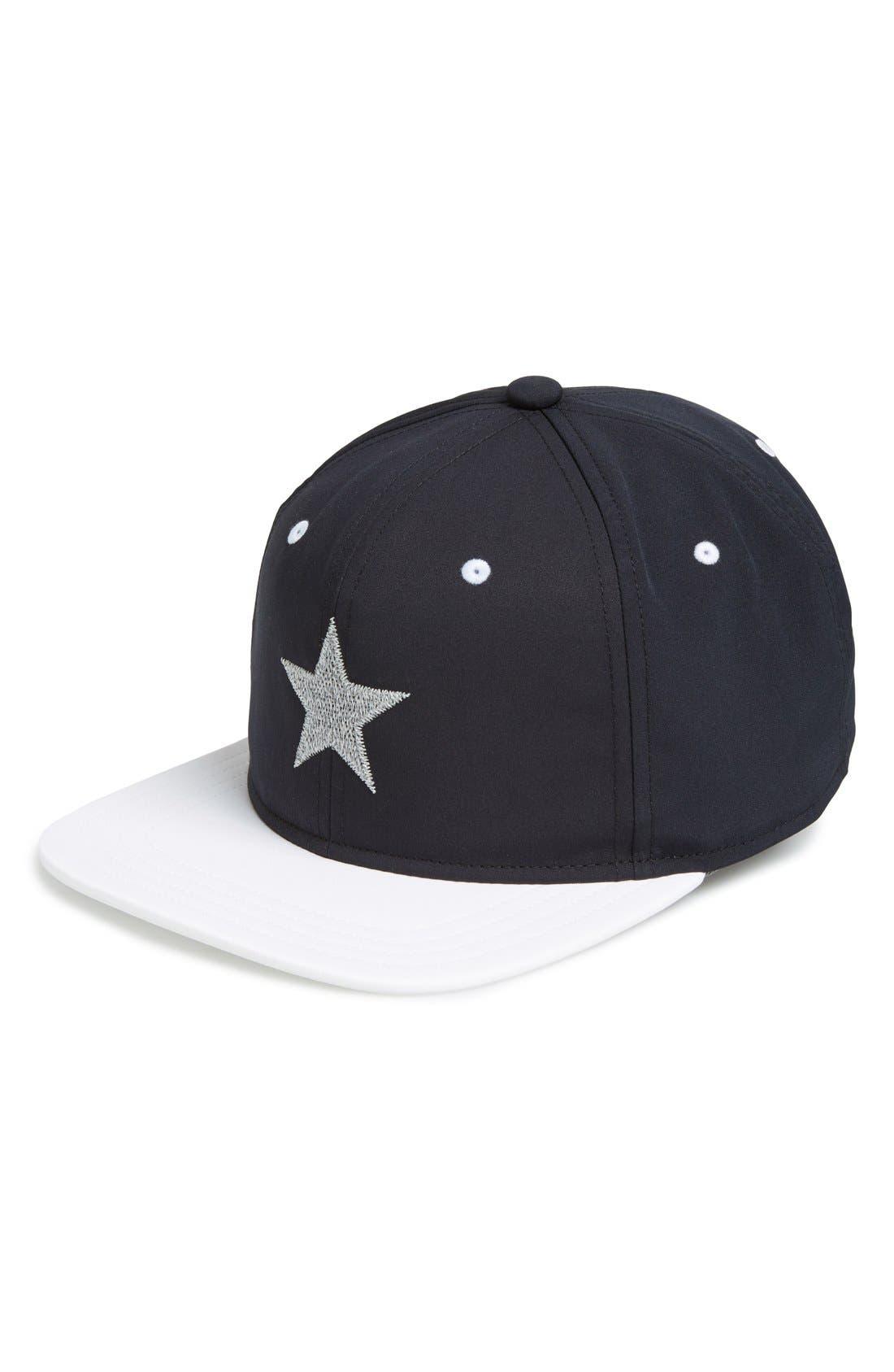 ,                             'Starlight' Reflective Baseball Cap,                             Main thumbnail 1, color,                             004