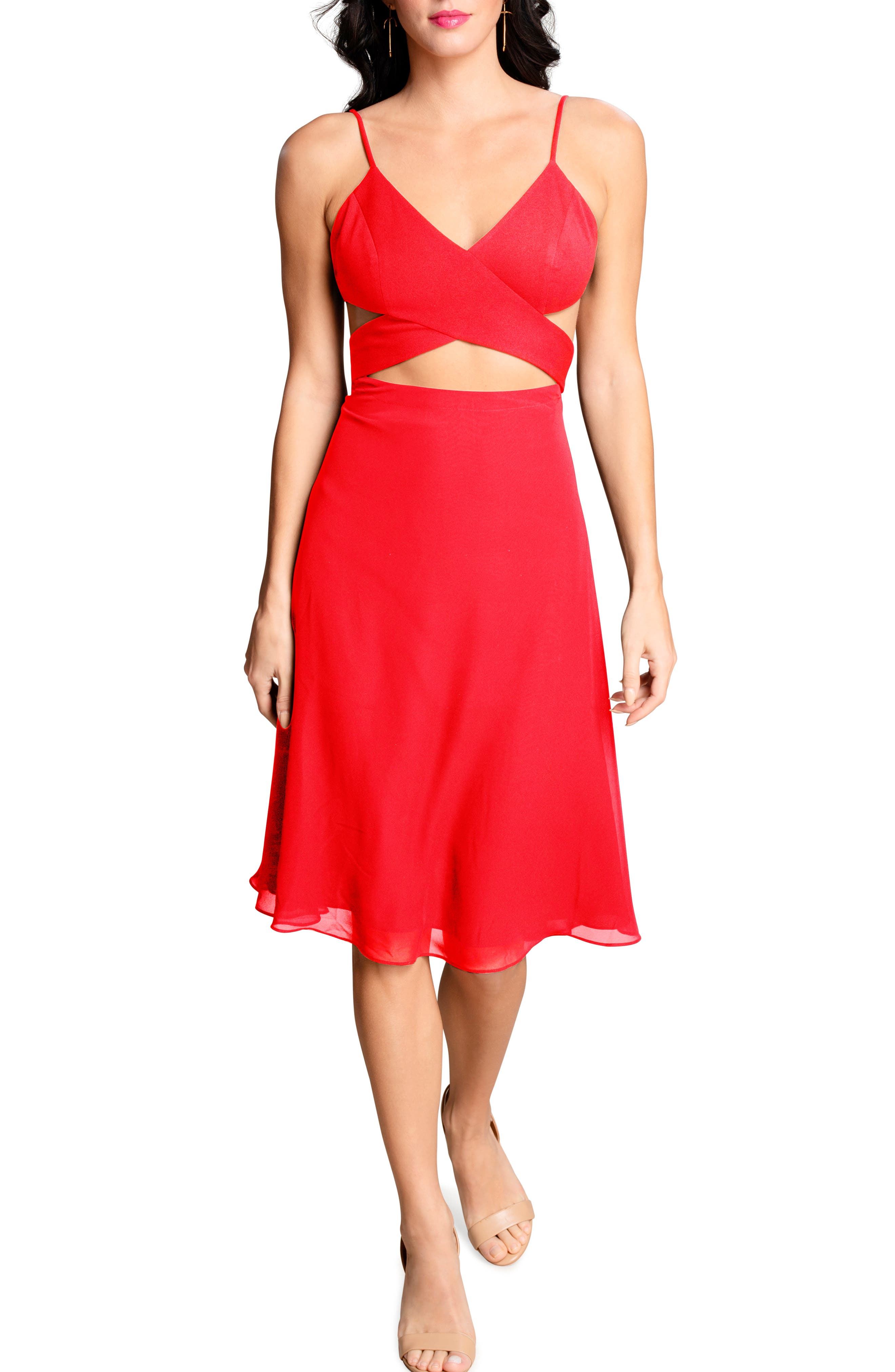 Abigail Cutout Fit & Flare Dress