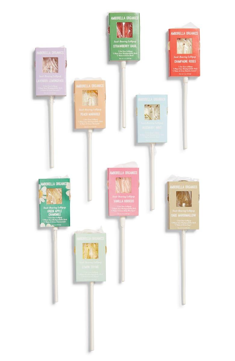 AMBORELLA ORGANICS Sucker for Plants 18-Piece Seed Based Lollipop Set, Main, color, WHITE MULTI