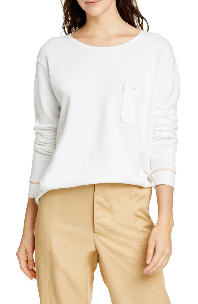 ALEX MILL Fleece Pocket Sweatshirt, Main, color, 101