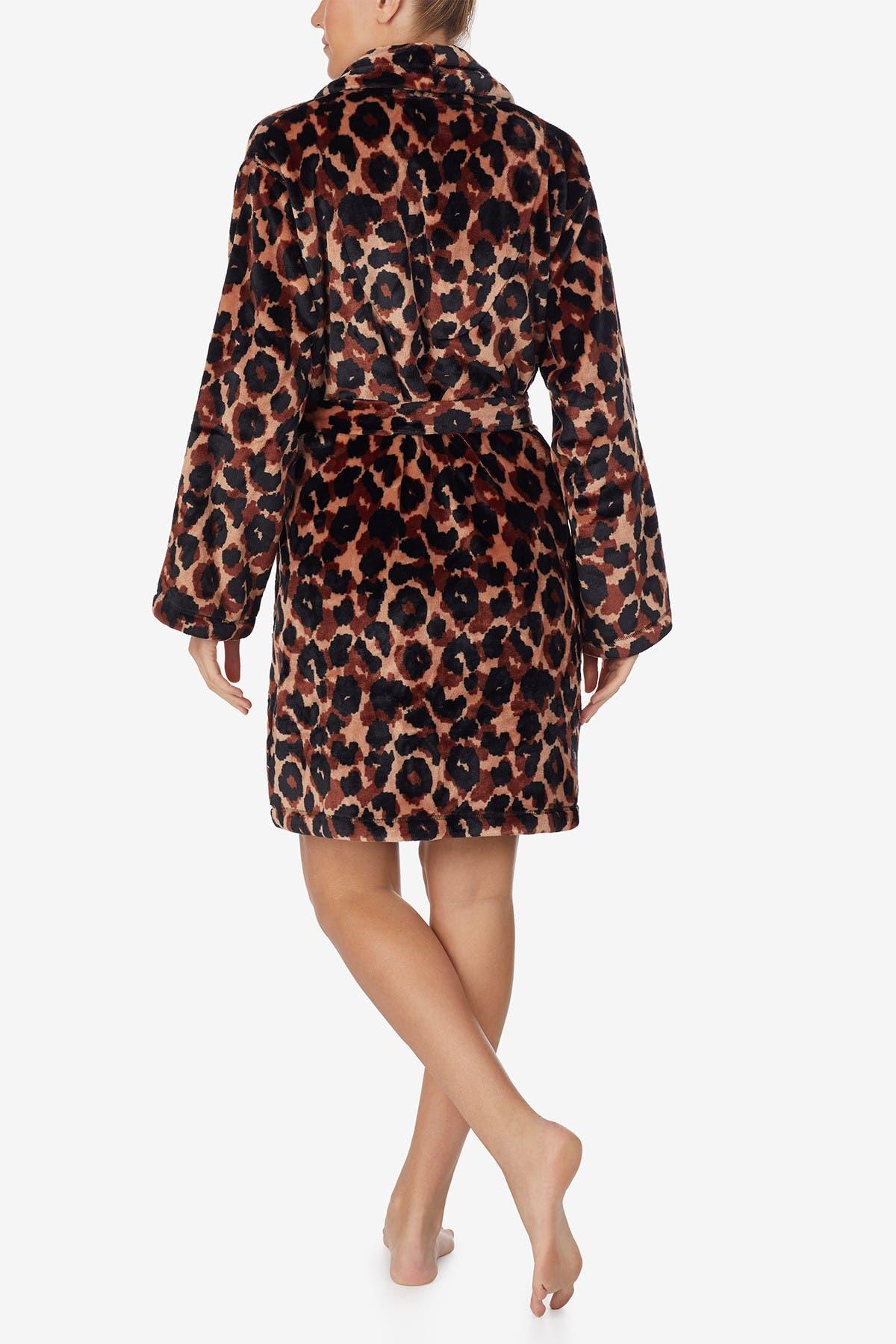 Image of DKNY Long Sleeve Short Wrap Robe