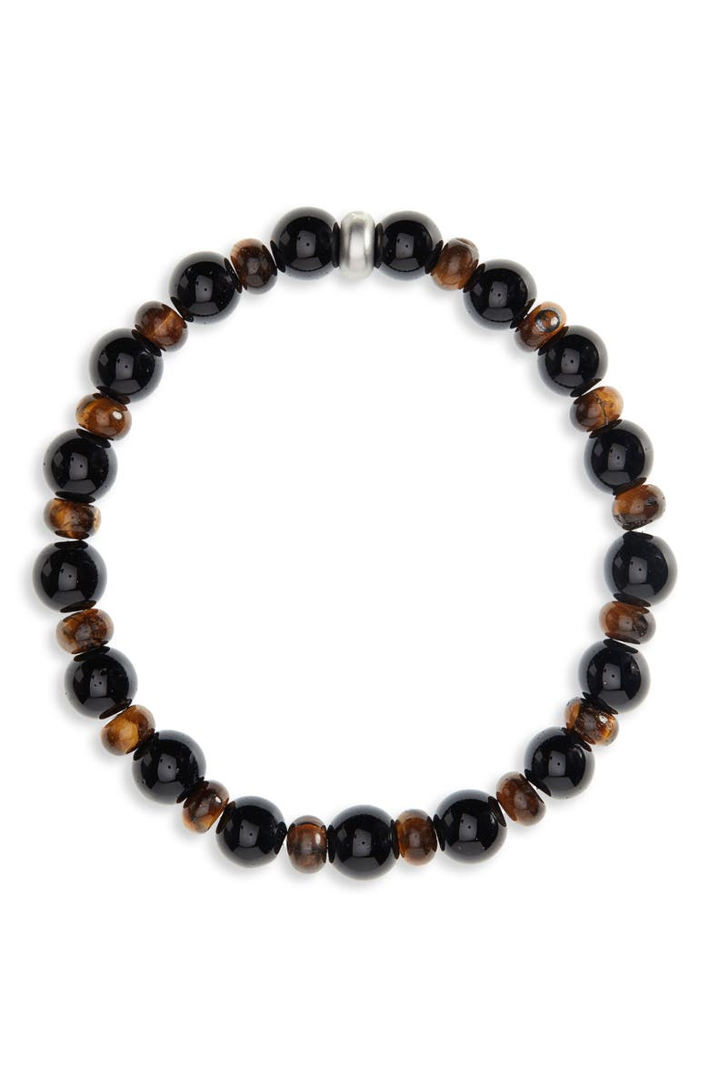 NORDSTROM MEN'S SHOP Stone Bead Bracelet, Main, color, 001