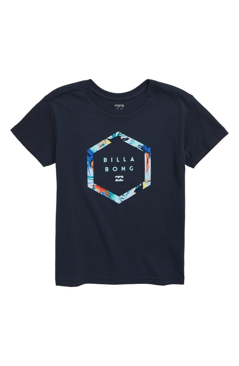 BILLABONG Access Logo T-Shirt, Main, color, NAVY