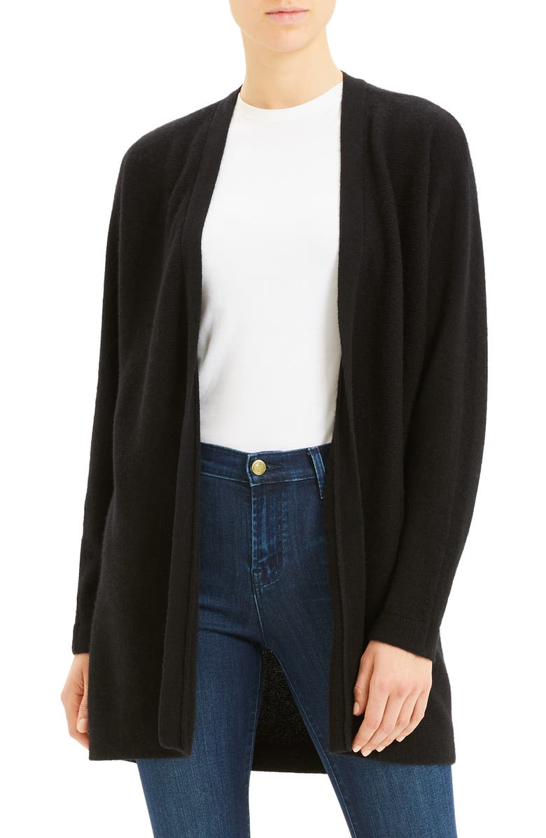 THEORY Oversize Cashmere Cardigan, Main, color, 001