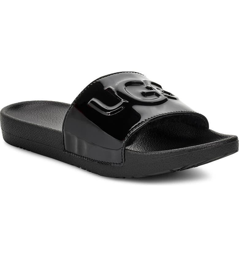 UGG<SUP>®</SUP> Royale Slide Sandal, Main, color, 001