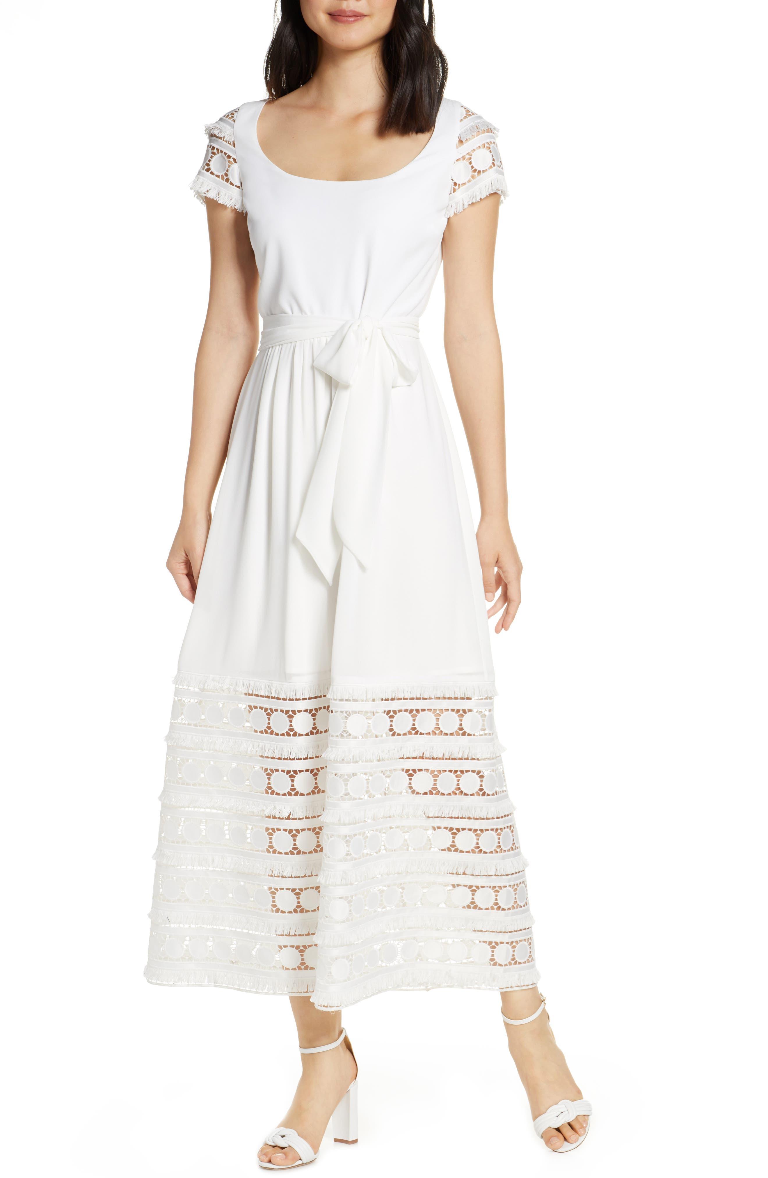 Mark + James By Badgley Mischka Lace Midi Dress, Ivory