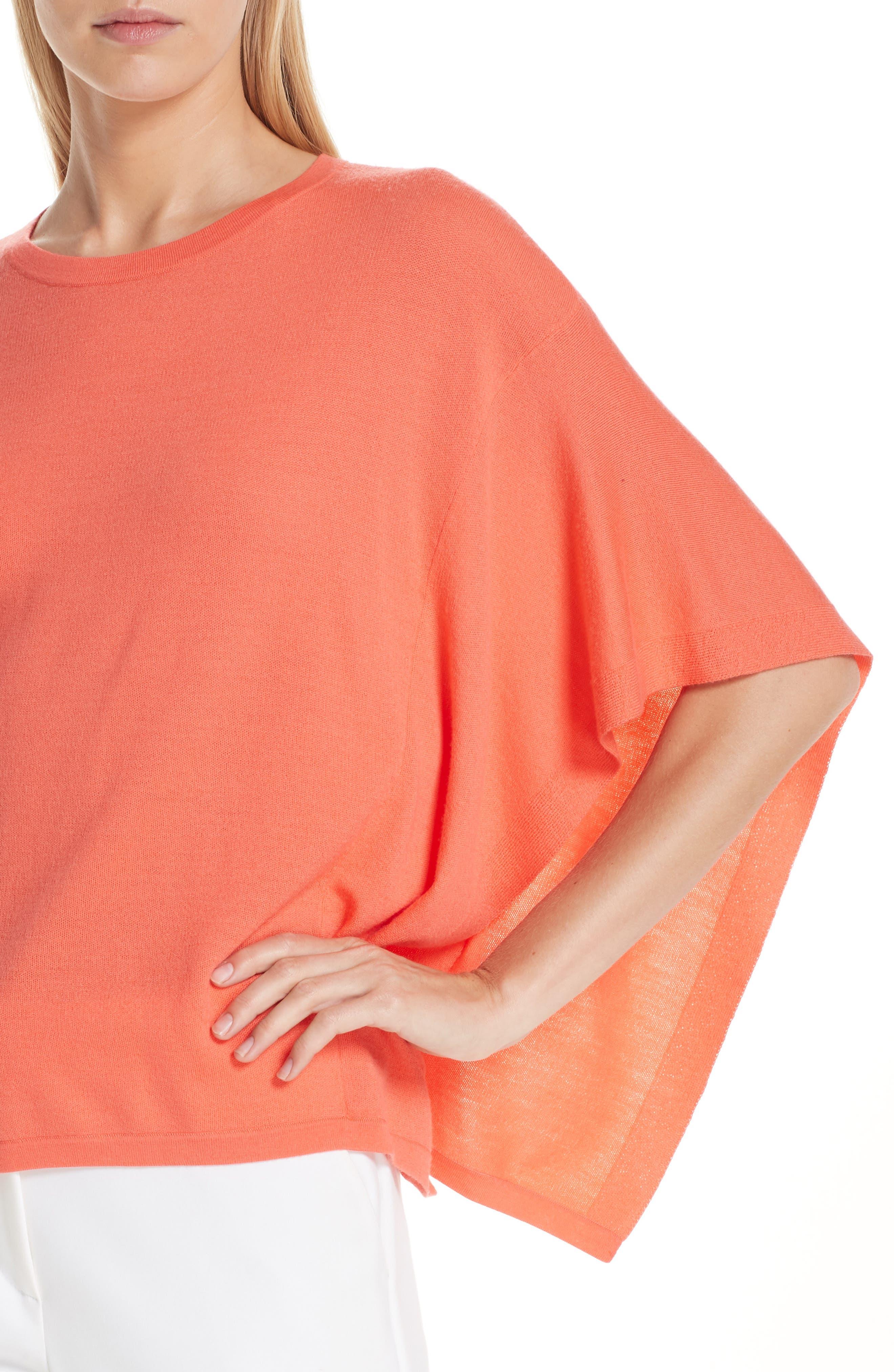 ,                             Float Jacquard Merino Wool Butterfly Sweater,                             Alternate thumbnail 4, color,                             BLOSSOM