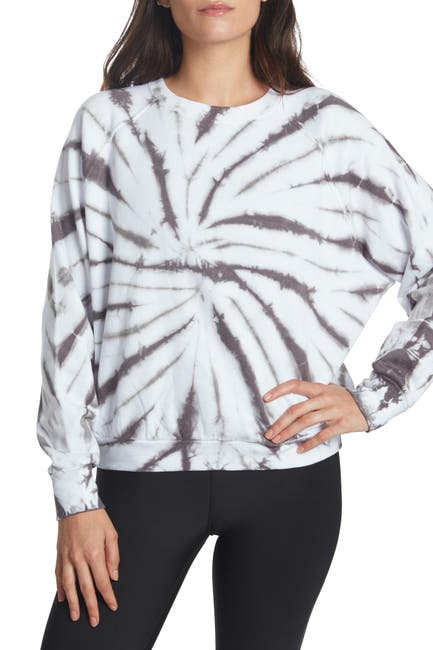 Image of SAGE COLLECTIVE Tie-Dye Raglan Fleece Sweatshirt