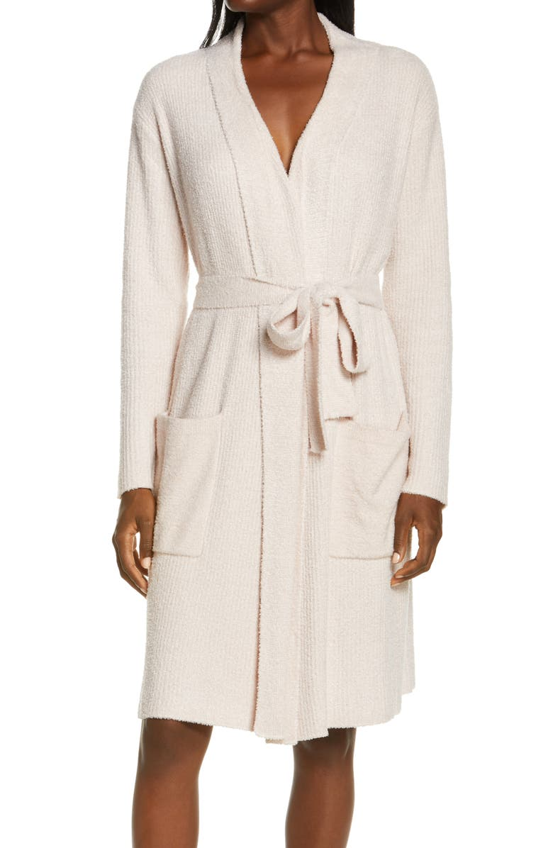 BAREFOOT DREAMS<SUP>®</SUP> CozyChic<sup>™</sup> Ribbed Robe, Main, color, HE DUSTY MAUVE-PEARL