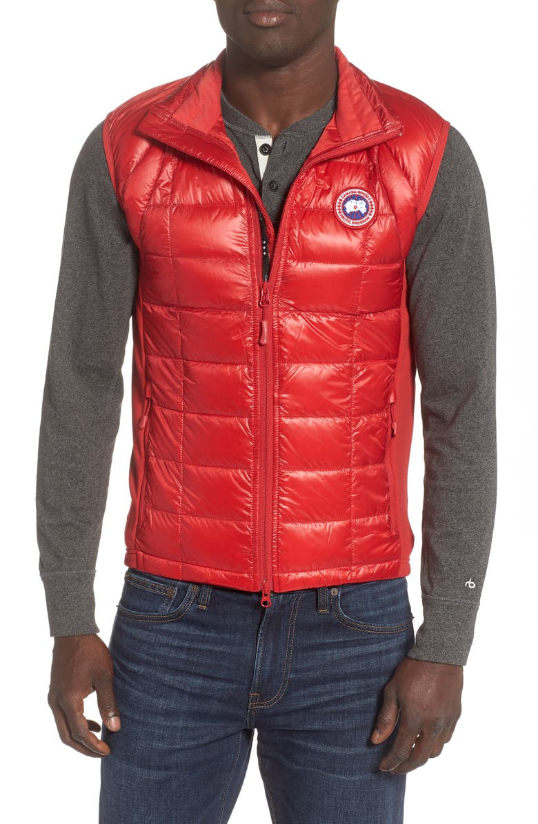 CANADA GOOSE 'Hybridge<sup>™</sup> Lite' Slim Fit Packable Quilted 800-Fill Down Vest, Main, color, RED