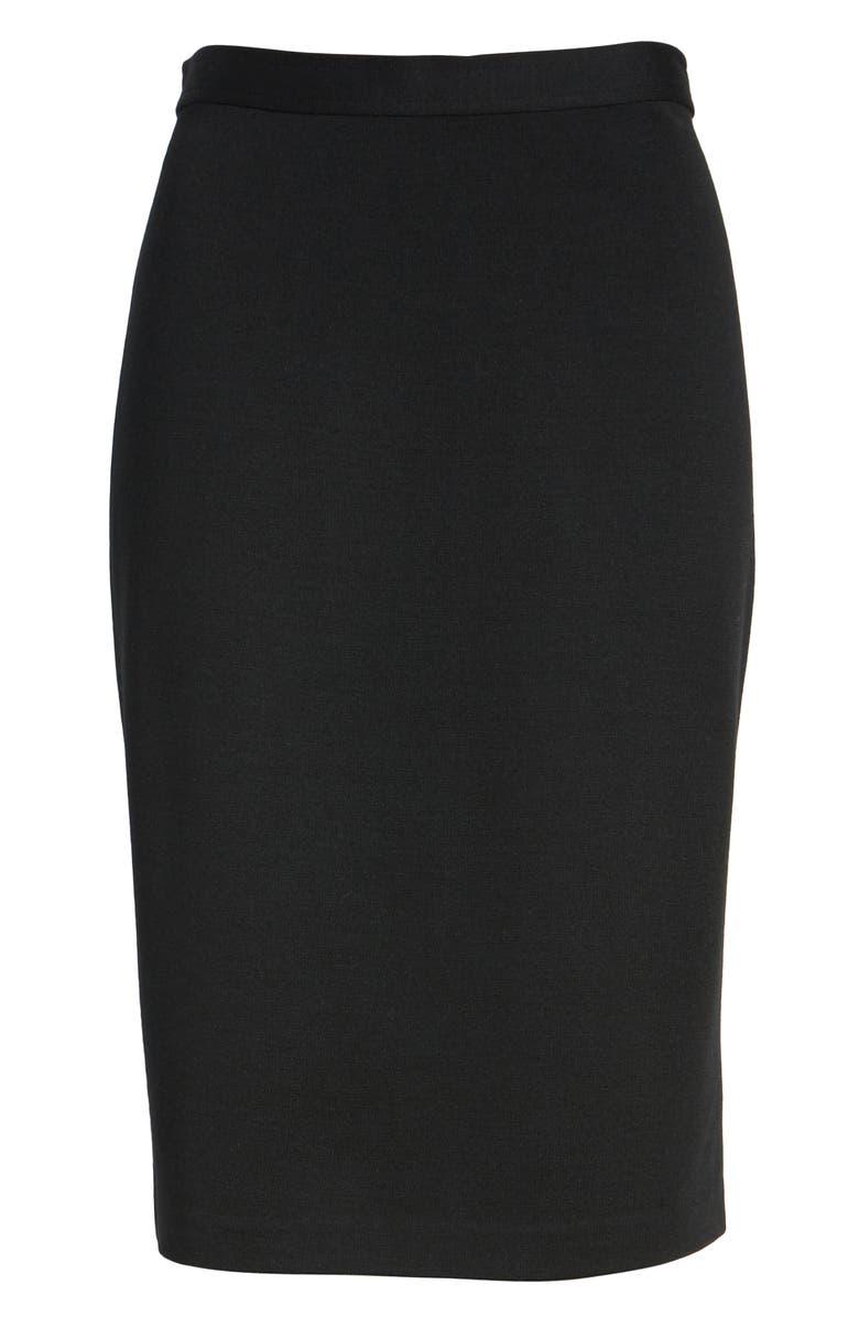 ST. JOHN COLLECTION Milano Knit Pencil Skirt, Main, color, CAVIAR