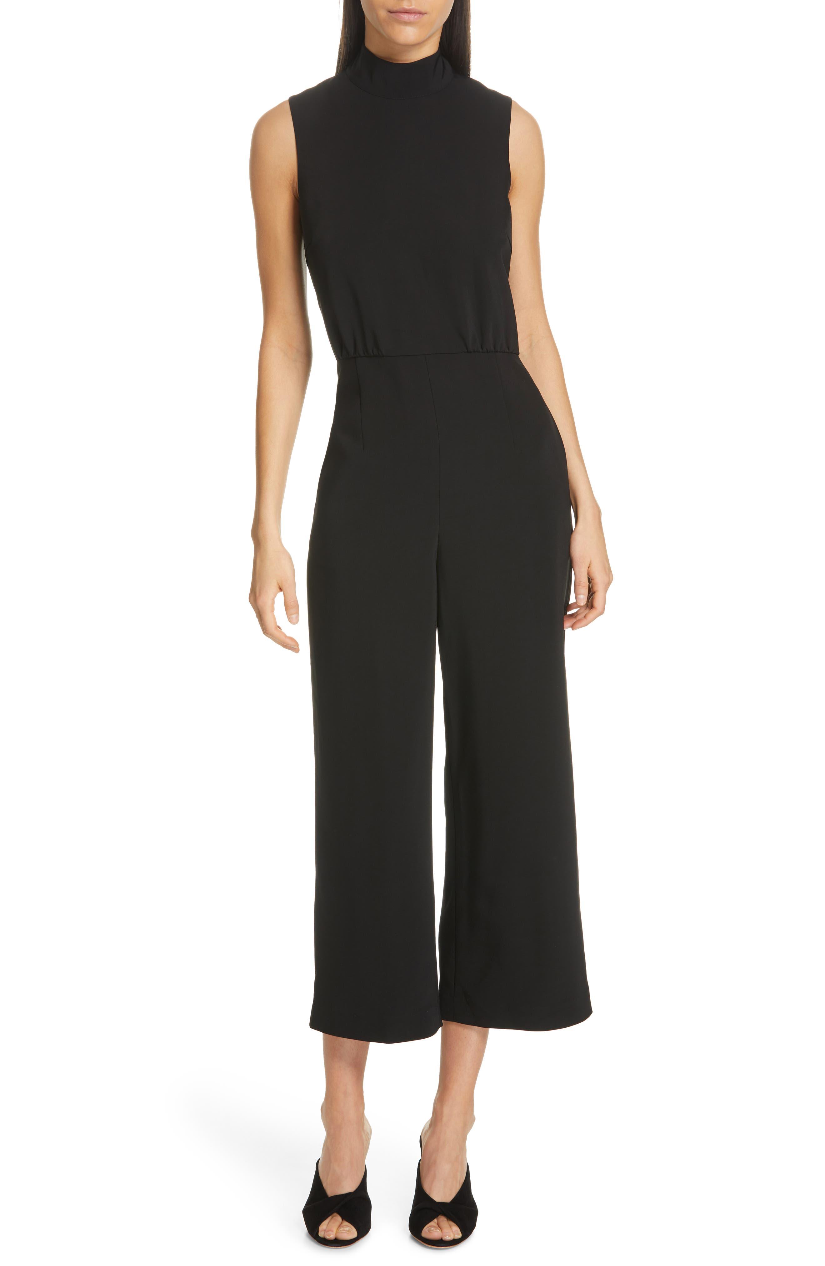 Symone Sleeveless Jumpsuit, Main, color, BLACK