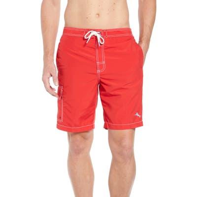 Tommy Bahama Baja Beach Board Shorts, Red