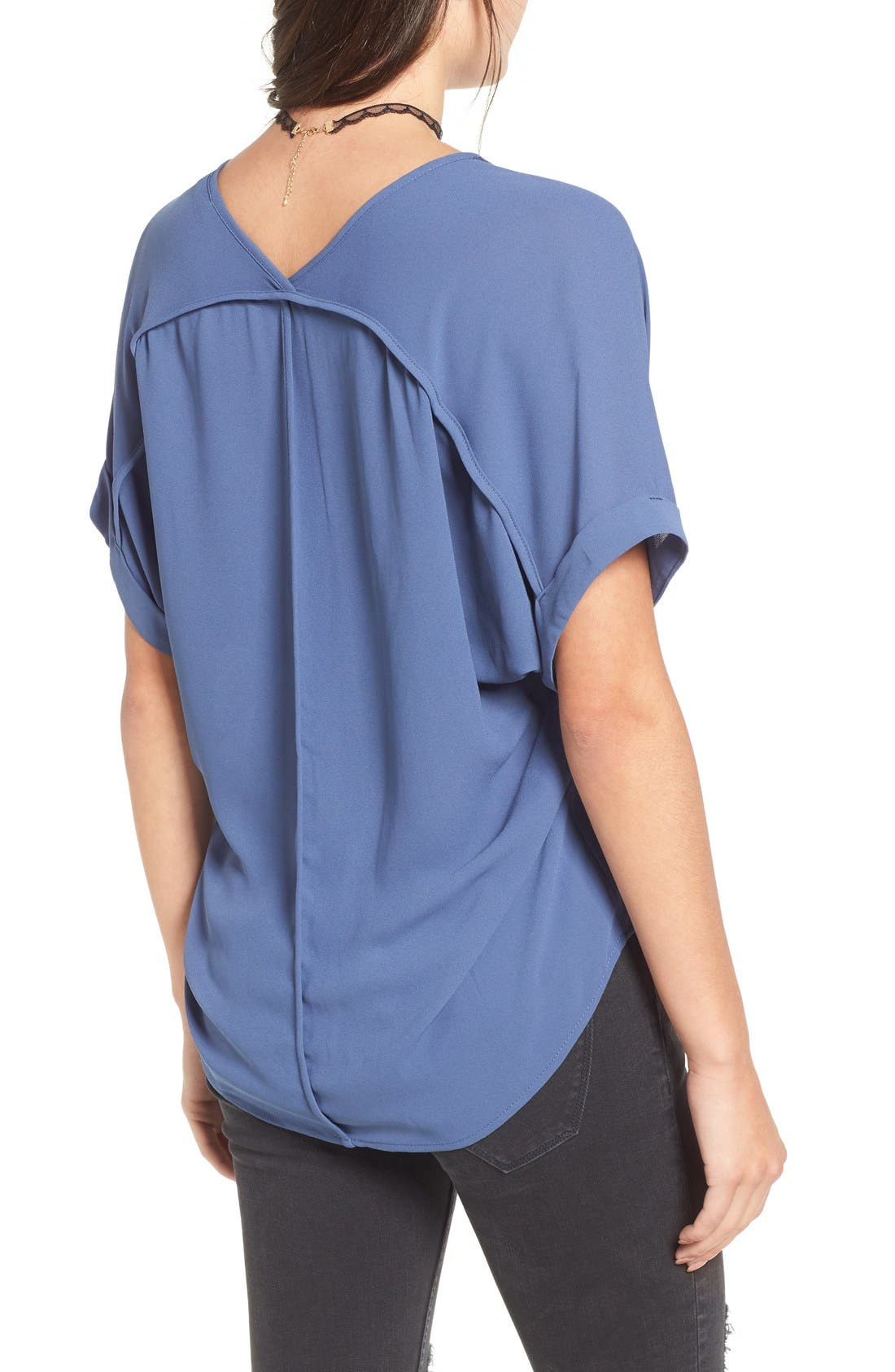,                             Lush Cuff Sleeve Woven Tee,                             Alternate thumbnail 95, color,                             410