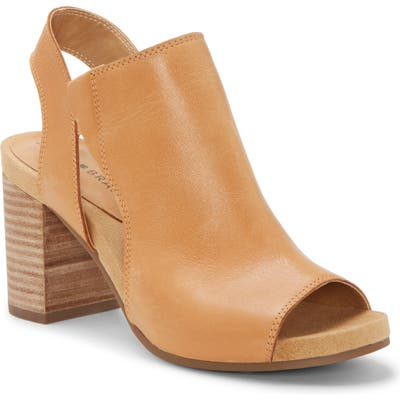 Lucky Brand Saundra Shield Slingback Sandal- Brown