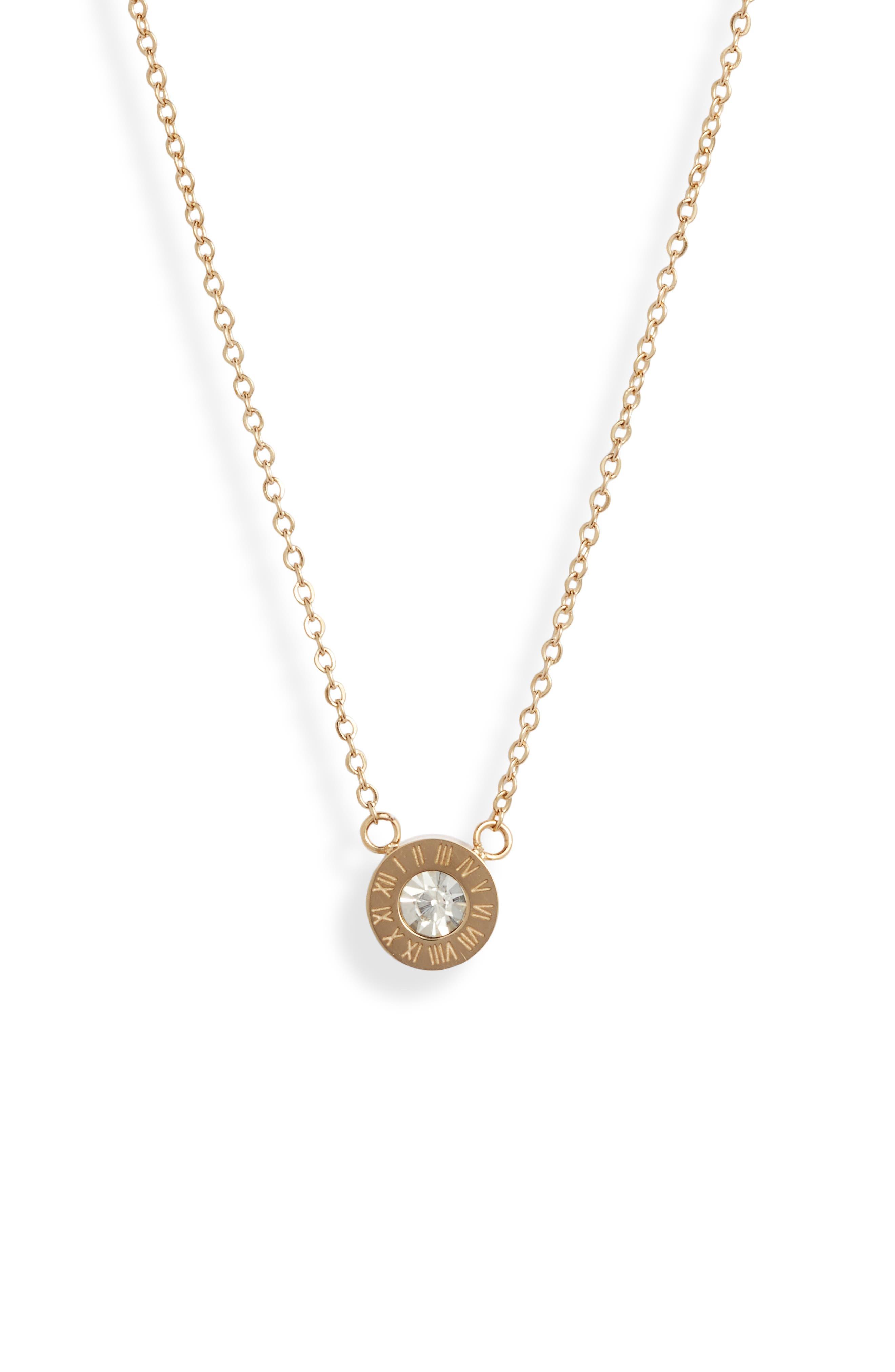 Roman Numerals Pendant Necklace