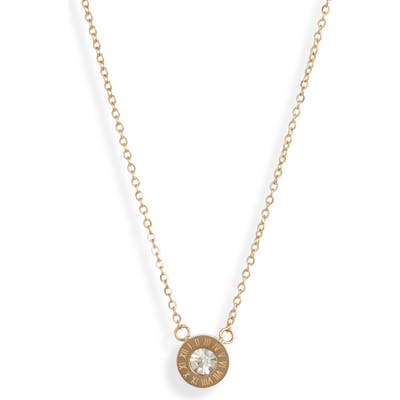 Knotty Roman Numerals Pendant Necklace