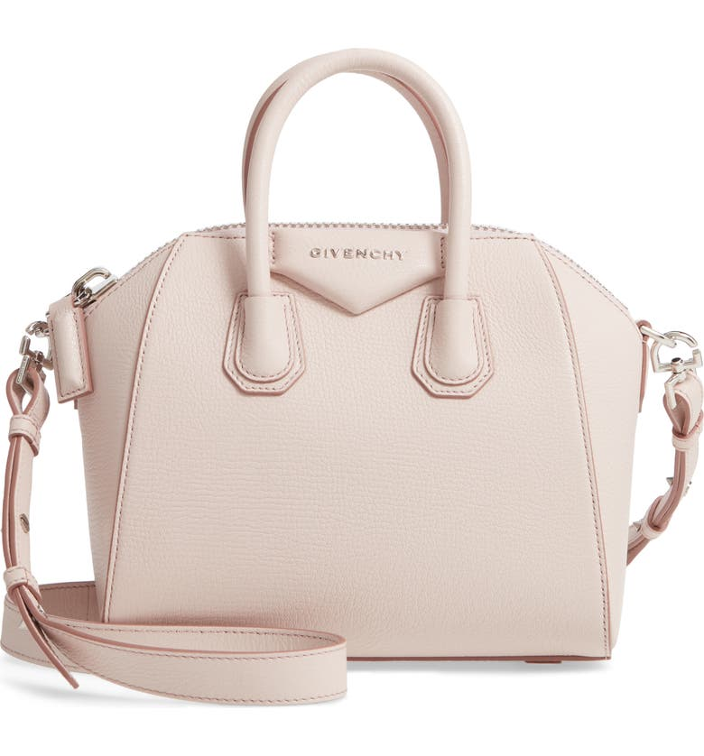 fe78c3c4e 'Mini Antigona' Sugar Leather Satchel, Main, color, PALE PINK '