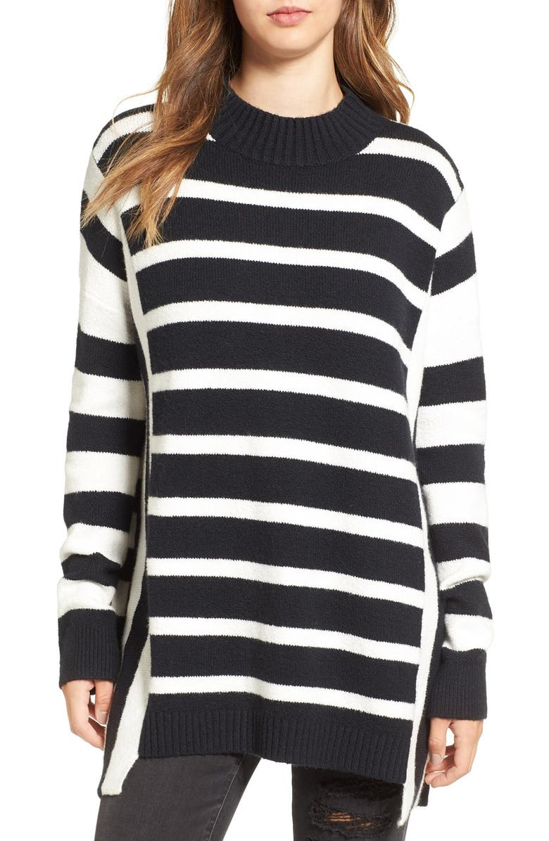 BP. Stripe Oversize Pullover, Main, color, 001