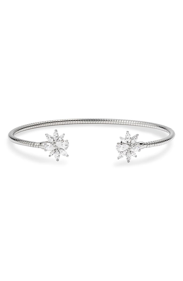 NADRI Loa Cluster Flex Cuff, Main, color, RHODIUM