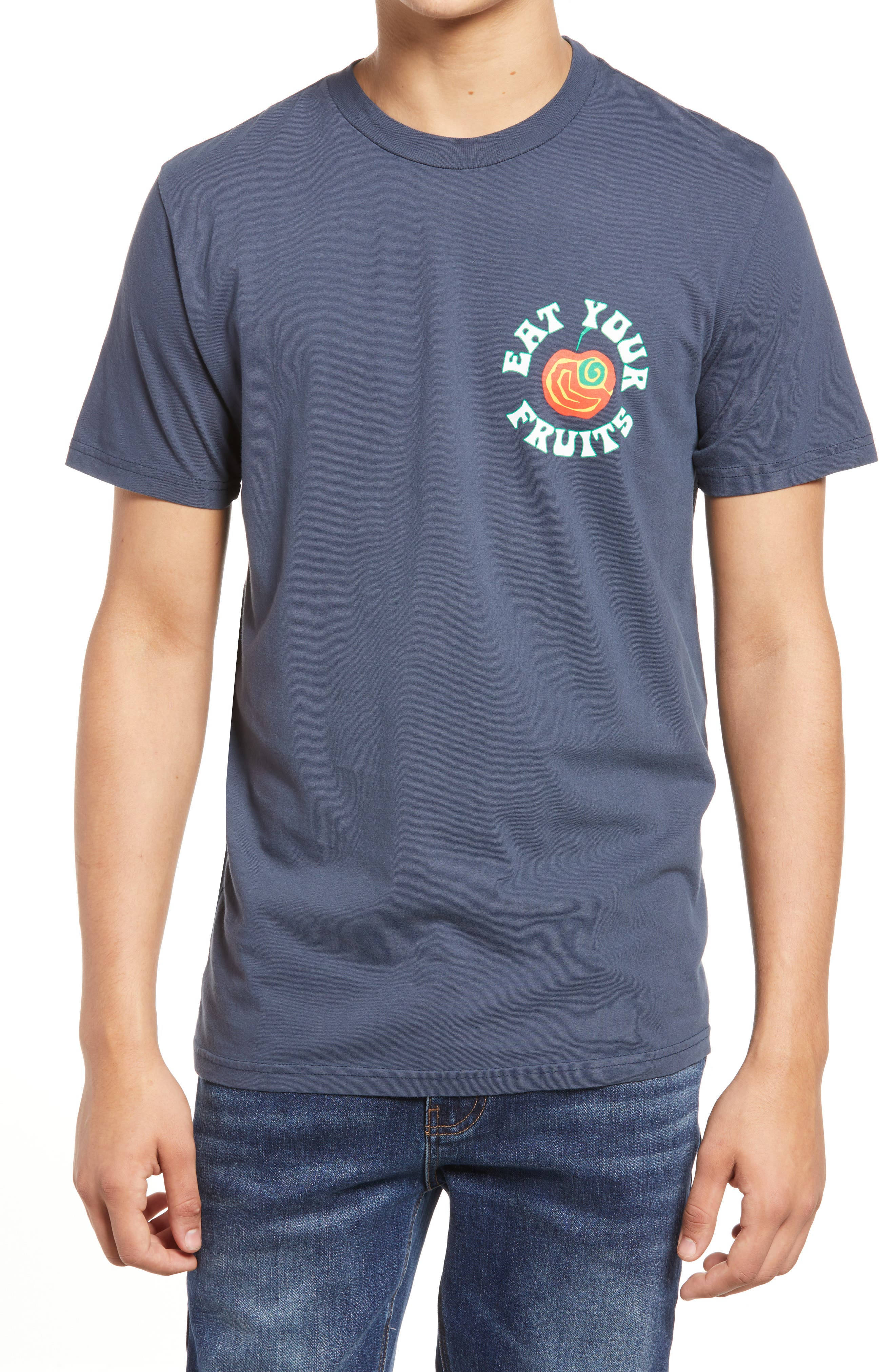 Men's Eat Your Fruits Cotton Graphic Tee