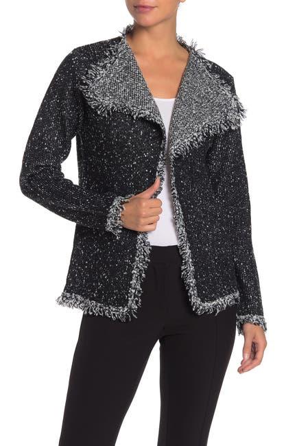 Image of Max Studio Marled Knit Sweater Jacket