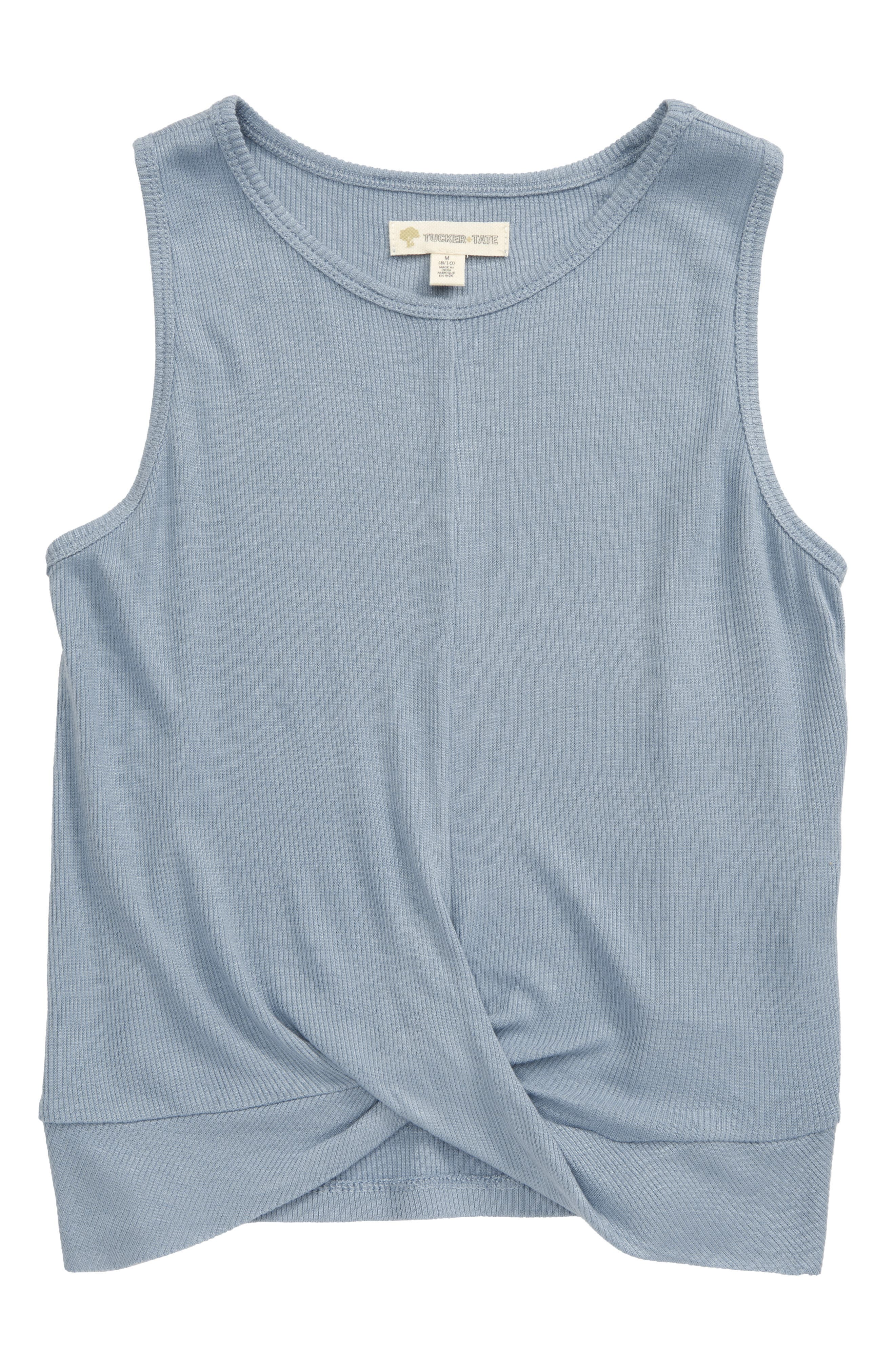 A cute crossover front brings trend-savvy style to a supersoft ribbed tank. Style Name: Tucker + Tate Kids\\\' Crossover Ribbed Tank (Big Girls). Style Number: 5778059 3. Available in stores.