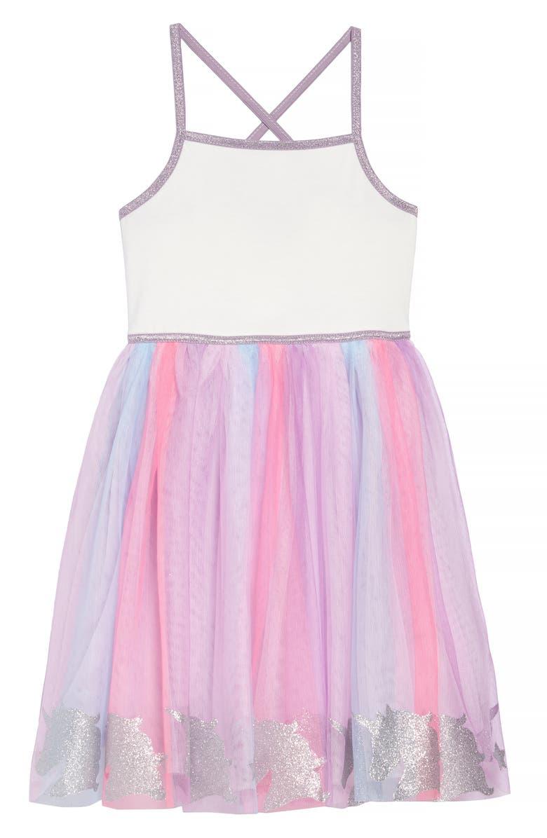 ZUNIE Ballet Unicorn Border Tutu Dress, Main, color, 900