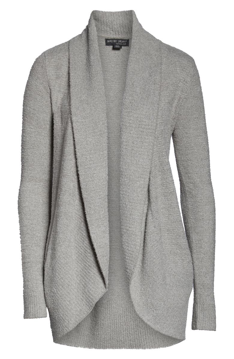 BAREFOOT DREAMS<SUP>®</SUP> CozyChic Lite<sup>®</sup> Circle Cardigan, Alternate, color, HE PEWTER/ PEARL