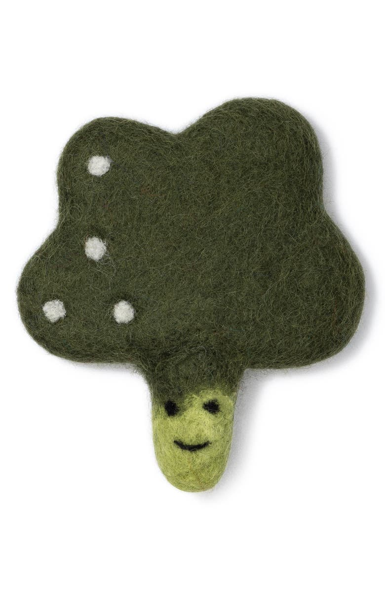 LOVETHYBEAST Broccoli Wool Dog Toy, Main, color, 300