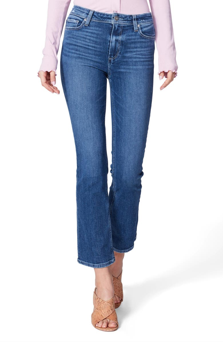 PAIGE Claudine High Waist Ankle Flare Jeans, Main, color, 400