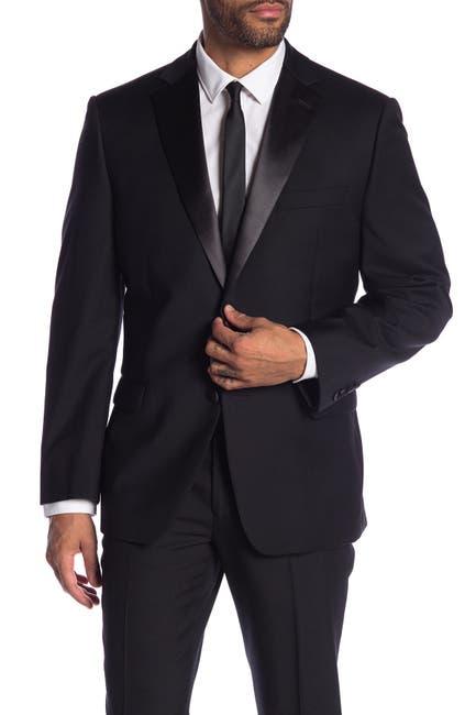 Image of Calvin Klein Notch Collar Wool Tux Jacket