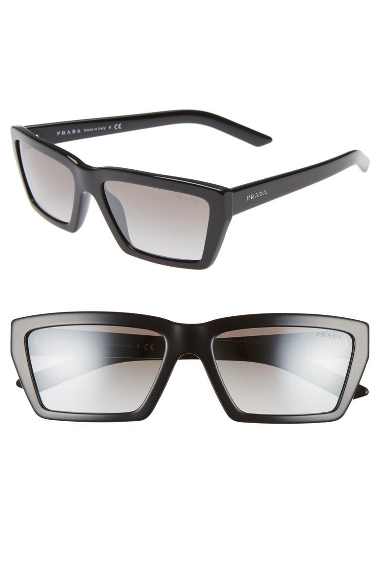b0691f28be3ab Prada Millennial 57mm Rectangle Sunglasses