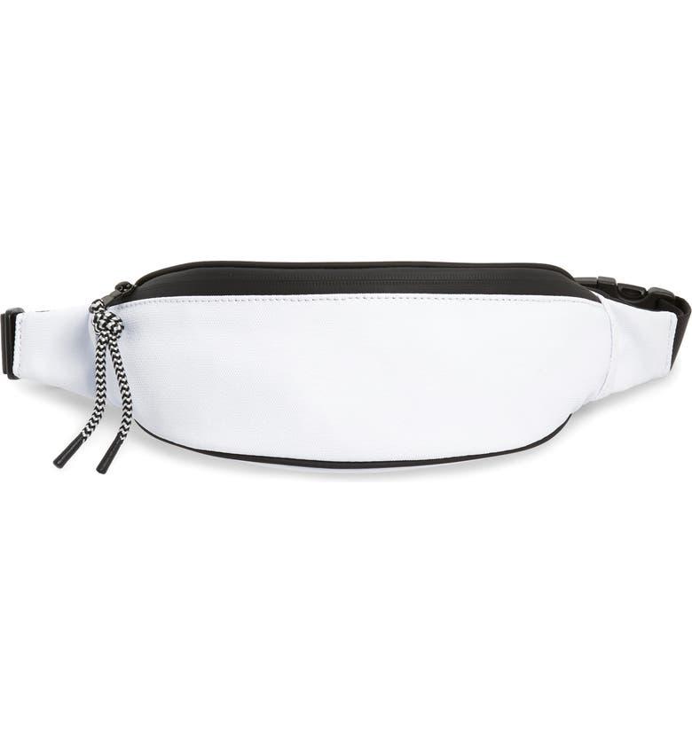 TREASURE & BOND Mason Water Resistant Belt Bag, Main, color, WHITE