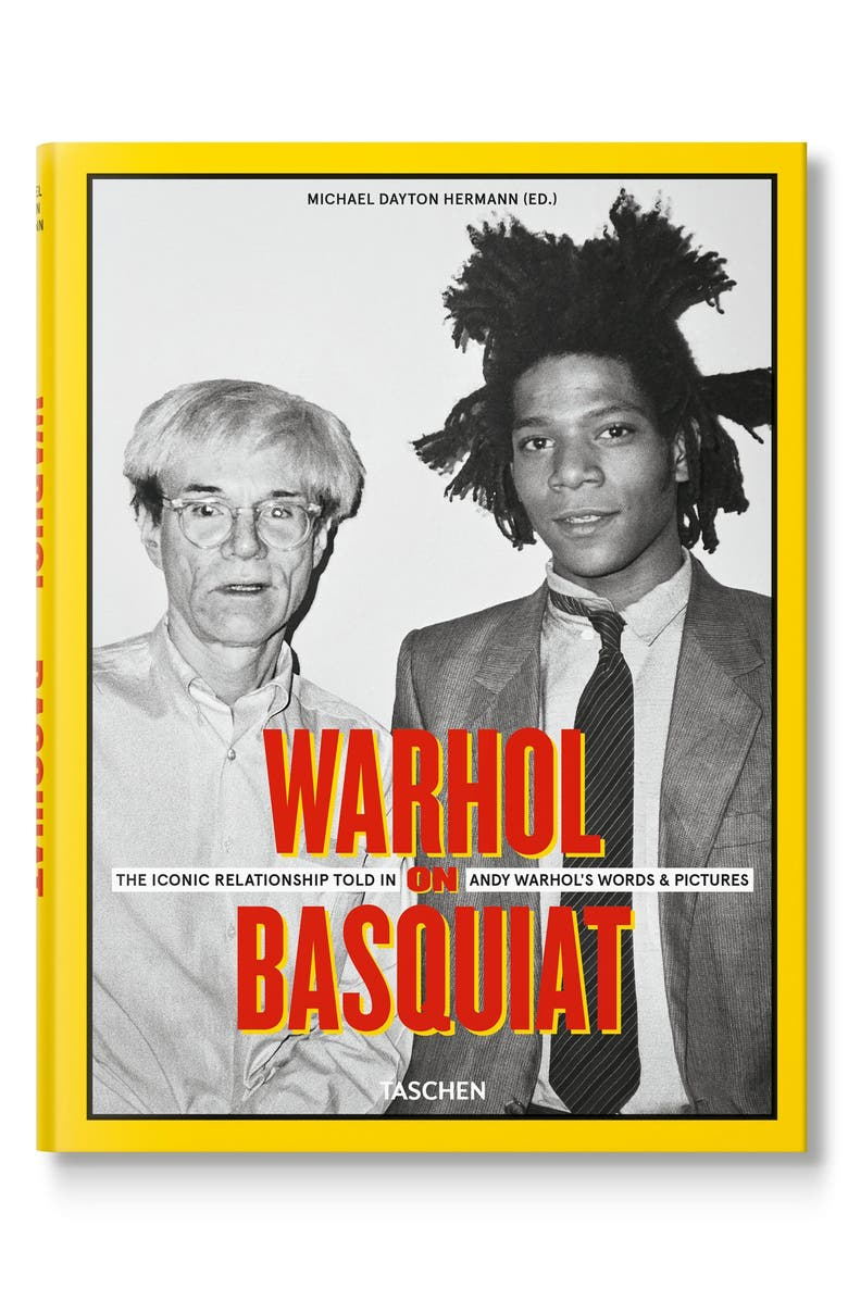 TASCHEN BOOKS 'Warhol on Basquiat: The Iconic Relationship Told in Andy Warhol's Words & Pictures' Book, Main, color, YELLOW