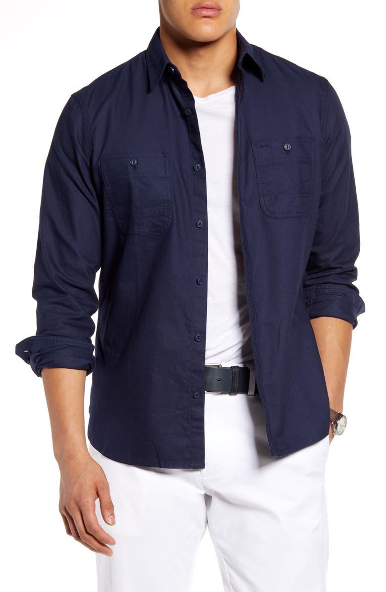 1901 Button-Up Workwear Shirt, Main, color, NAVY IRIS