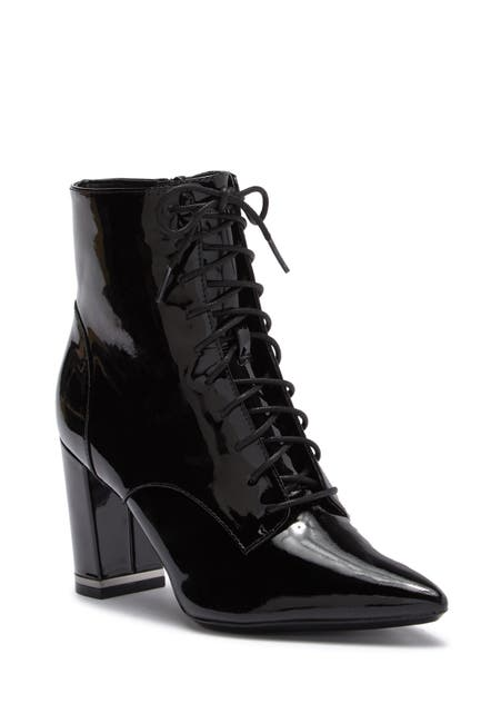 Image of Calvin Klein Esma Patent Leather Lace Up Bootie