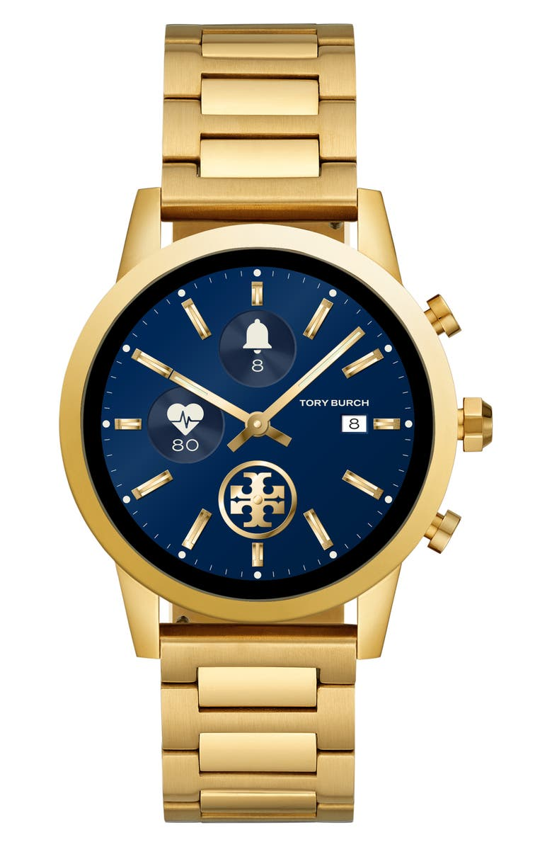 TORY BURCH ToryTrack Gigi Touchscreen Smart Watch, 40mm, Main, color, GOLD
