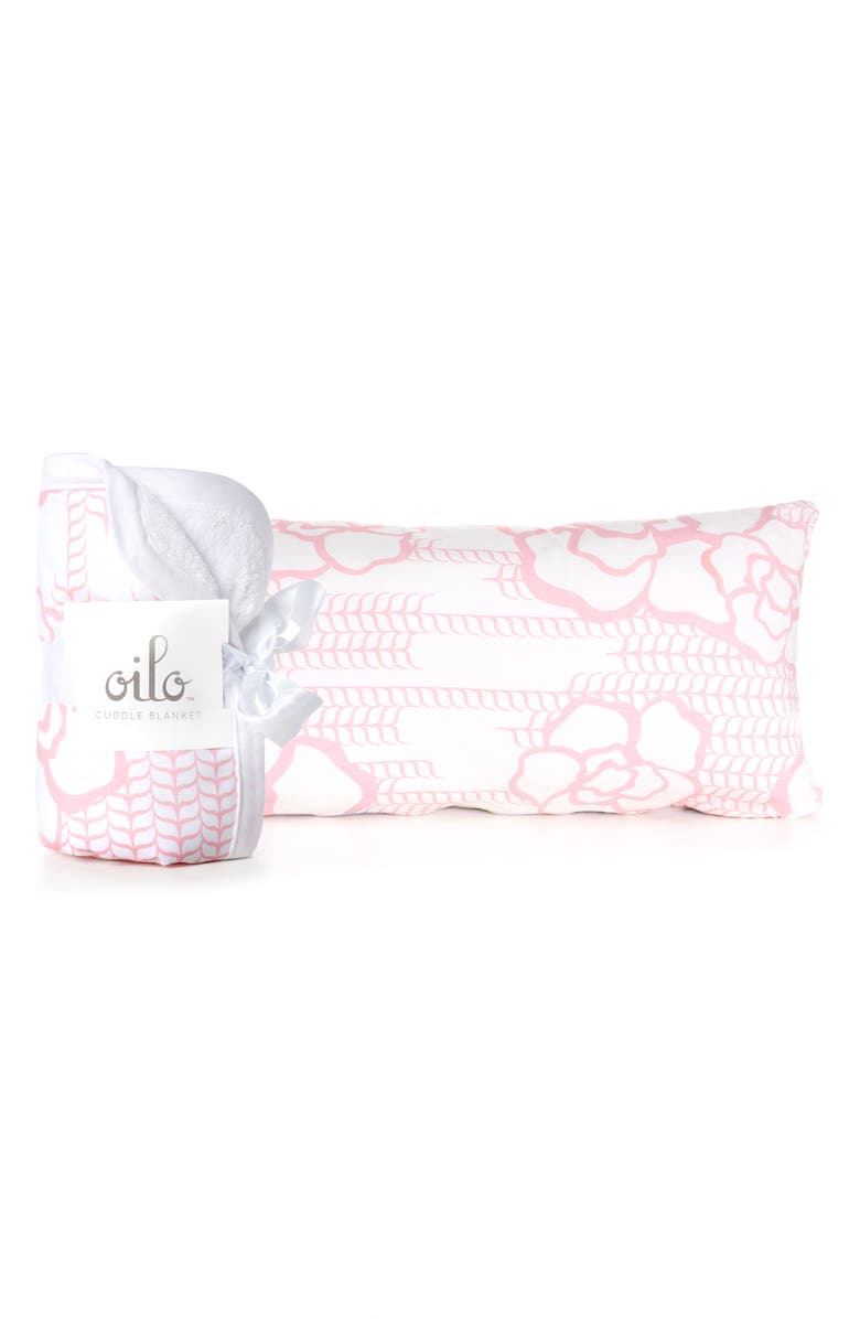 OILO Capri Cuddle Blanket & Lumbar Pillow Set, Main, color, BLUSH