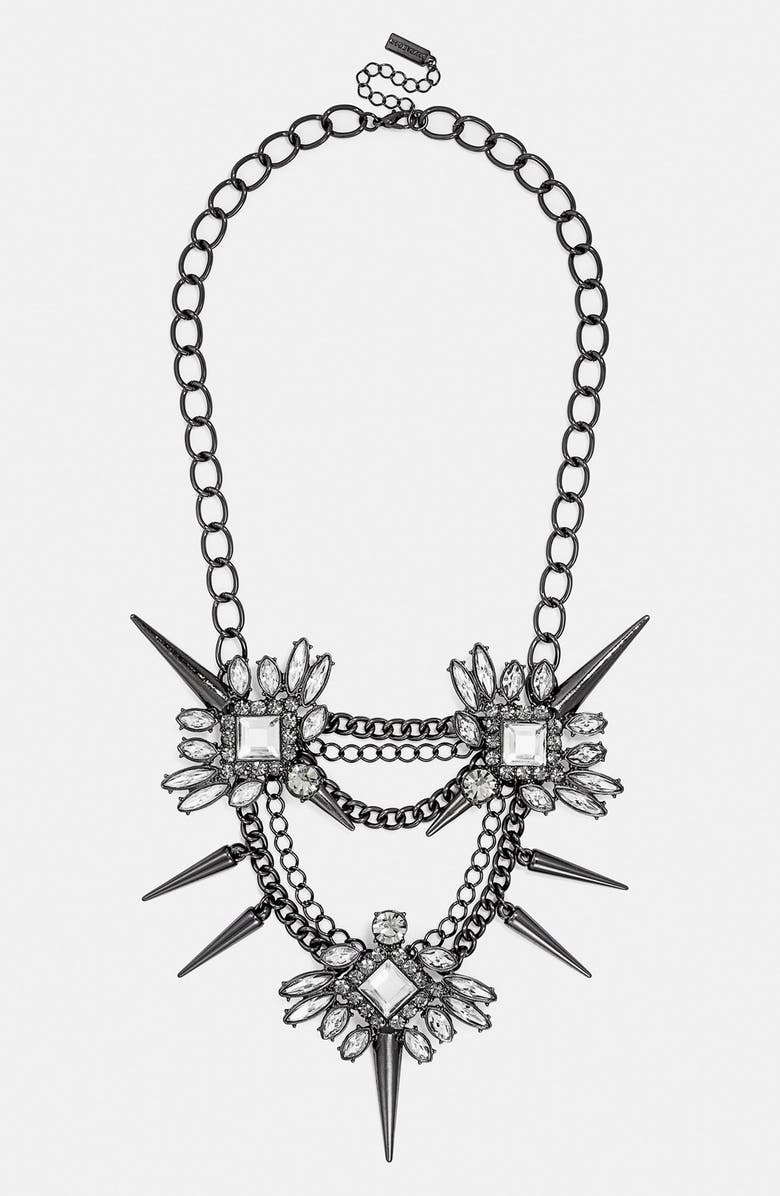 BAUBLEBAR 'Spiked Lily' Frontal Necklace, Main, color, 002