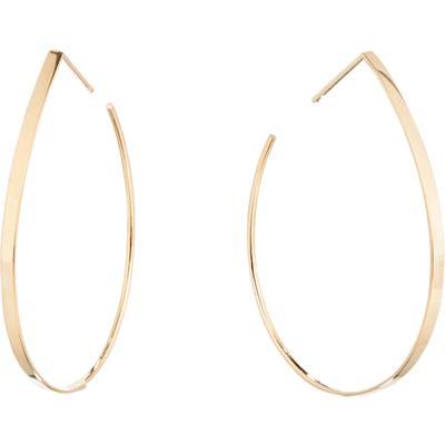 Lana Jewelry Small Flat Teardrop Hoop Earrings