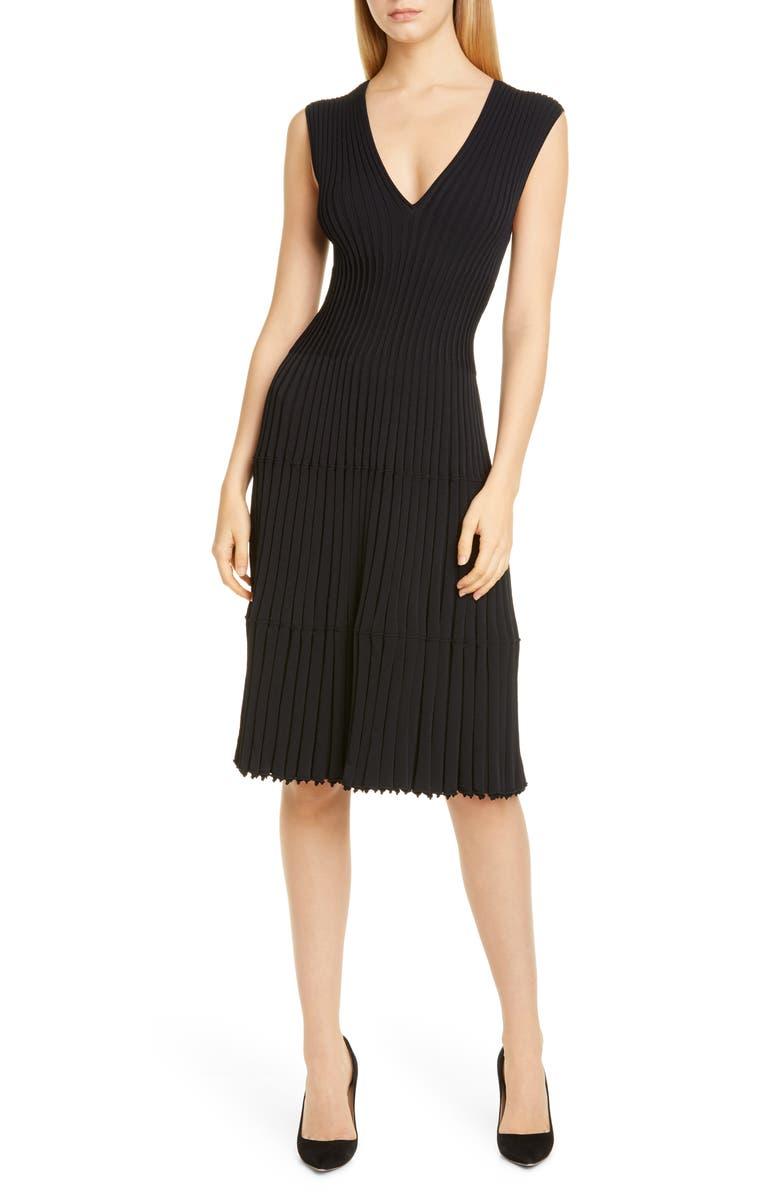 ALTUZARRA Riggs Rib Sweater Dress, Main, color, 001