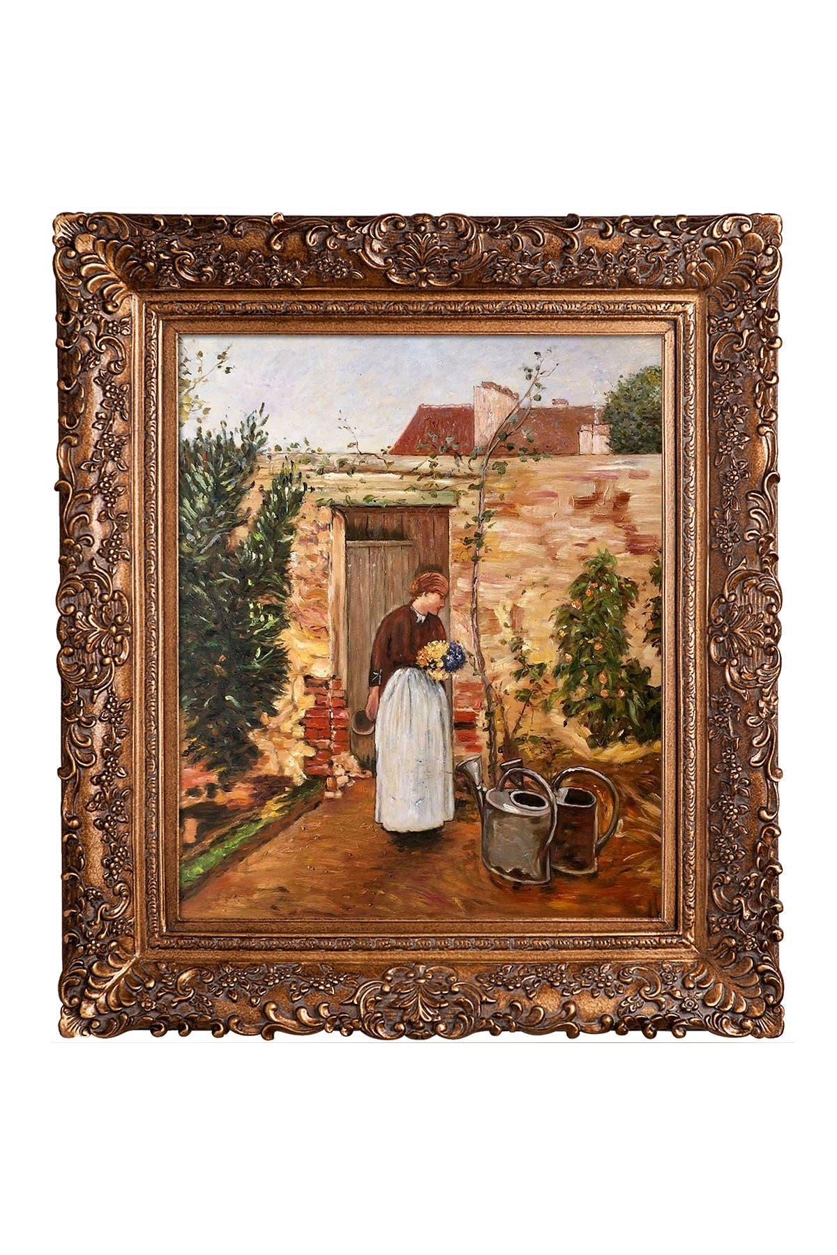 Overstock Art The Garden Door with Burgeon Gold Frame, 29.5\\\