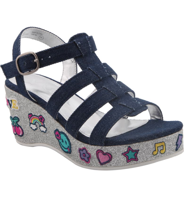 NINA Bubbles Emoji Platform Sandal, Main, color, 423