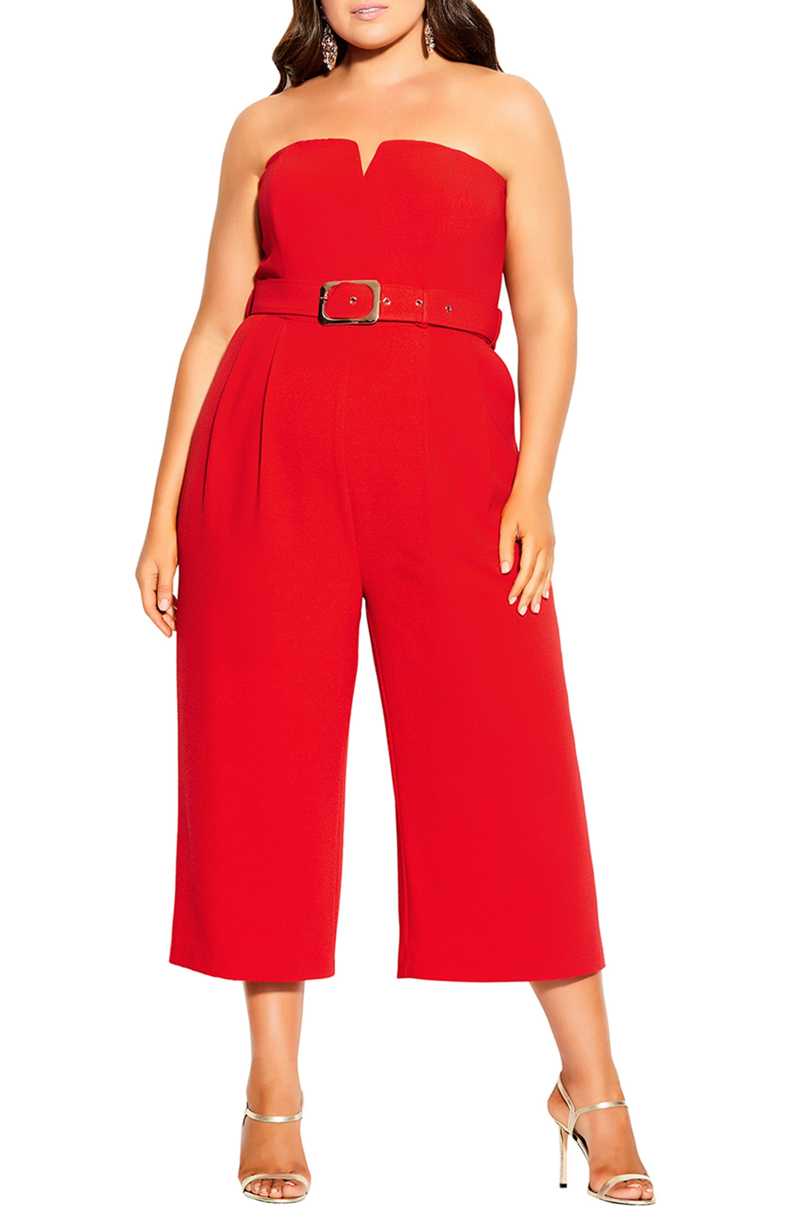 Seduce Strapless Crop Jumpsuit