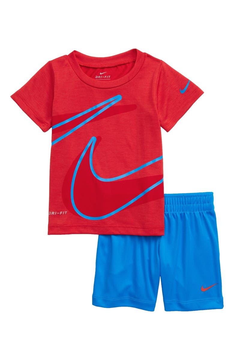 NIKE Dry Dropset T-Shirt & Shorts Set, Main, color, 400