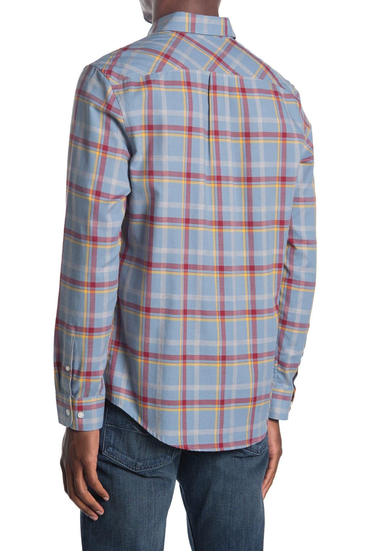 Original Penguin   Woven Long Sleeve Windowpane Shirt   Nordstrom Rack