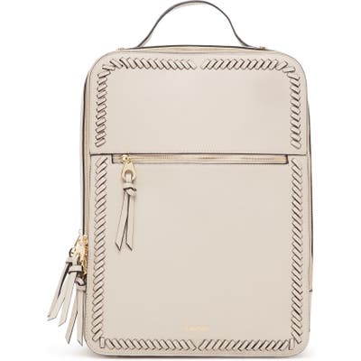 Calpak Kaya Faux Leather Laptop Backpack - Beige