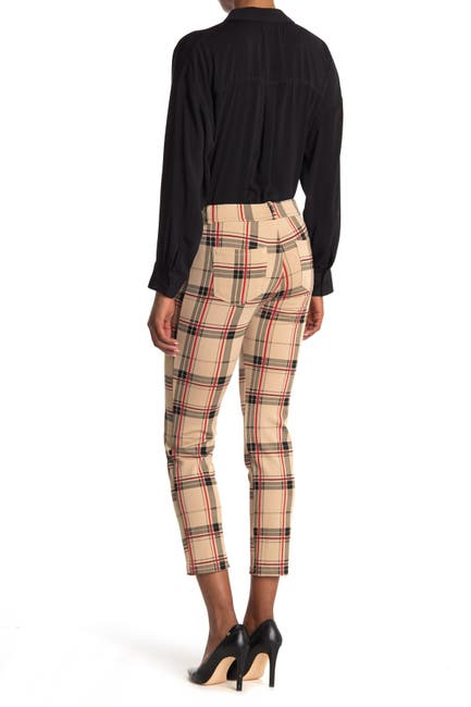 Image of Sanctuary Plaid Slim Crop Ponte Pants